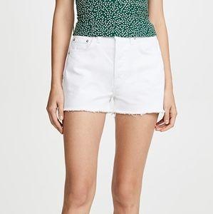 Reformation jeans Dixie white denim shorts 29 NWOT